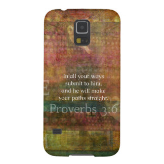 Proverbs 3 6 Inspirational Bible Verse Samsung Galaxy Nexus Case