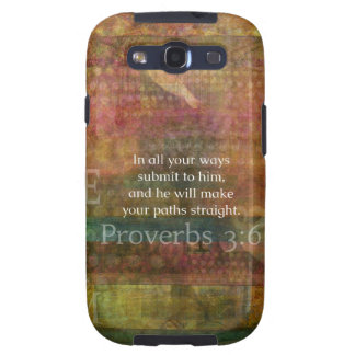 Proverbs 3 6 Inspirational Bible Verse Samsung Galaxy SIII Cover