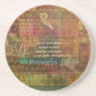 Proverbs 3:6: Inspirational Bible Verse Coaster