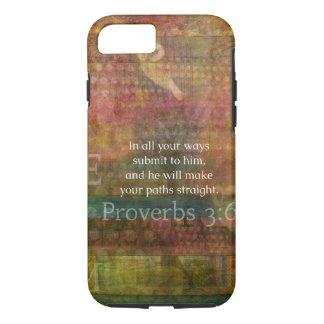 Proverbs 3:6: Inspirational Bible Verse iPhone 7 Case