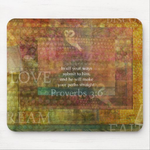 Proverbs 3:6: Inspirational Bible Verse Mouse Pads