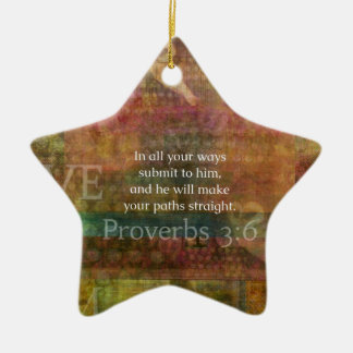 Proverbs 3 6 Inspirational Bible Verse Christmas Tree Ornaments