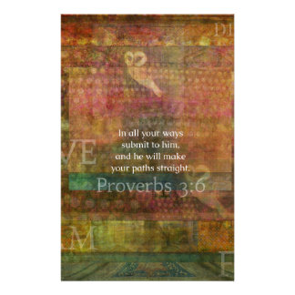 Proverbs 3:6: Inspirational Bible Verse Stationery