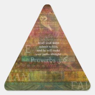 Proverbs 3:6: Inspirational Bible Verse Stickers