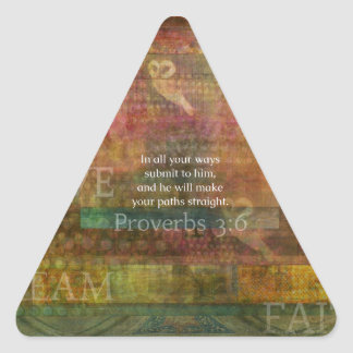 Proverbs 3:6: Inspirational Bible Verse Triangle Sticker