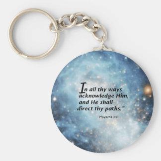 Proverbs 3:6 keychain
