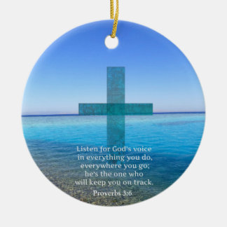 Proverbs 3 6 Listen for God s voice BIBLE VERSE Ornaments