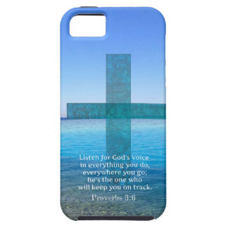 Proverbs 3:6 Listen for God's voice BIBLE VERSE iPhone SE/5/5s Case