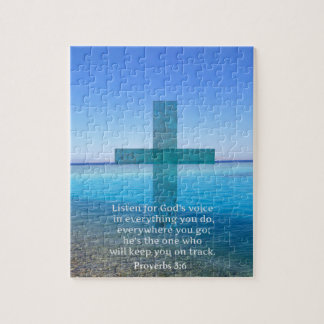 Proverbs 3:6 Listen for God's voice BIBLE VERSE Jigsaw Puzzle