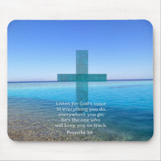 Proverbs 3:6 Listen for God's voice BIBLE VERSE Mouse Pad
