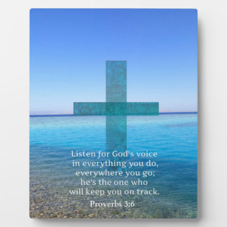 Proverbs 3:6 Listen for God's voice BIBLE VERSE Photo Plaques