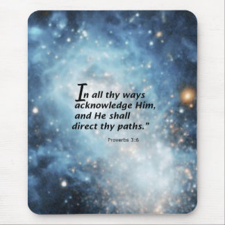 Proverbs 3:6 mouse pad
