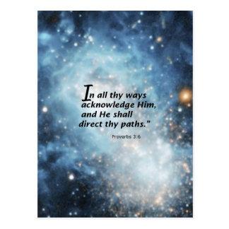 Proverbs 3:6 postcard