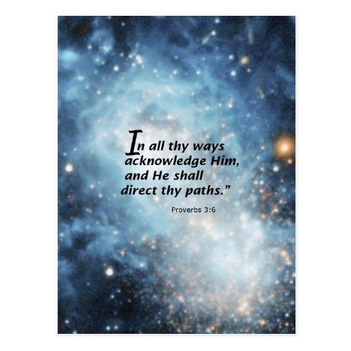 Proverbs 3:6 postcards