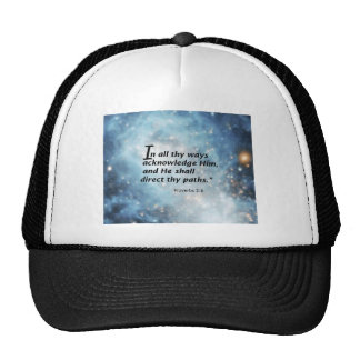 Proverbs 3:6 trucker hat