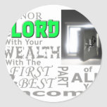 Proverbs 3:9 Honor the LORD with your wealth, with Classic Round Sticker
