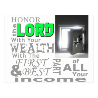 Proverbs 3:9 Honor the LORD with your wealth, with Postcard