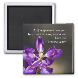 Proverbs 4:23 2 inch square magnet