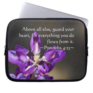 Proverbs 4:23 computer sleeve