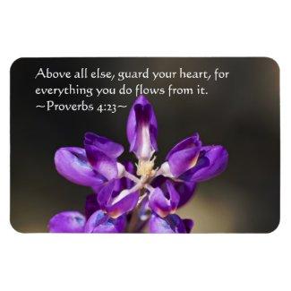Proverbs 4:23 flexible magnet