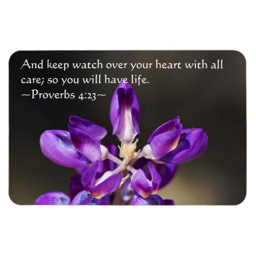 Proverbs 4:23 rectangular magnets