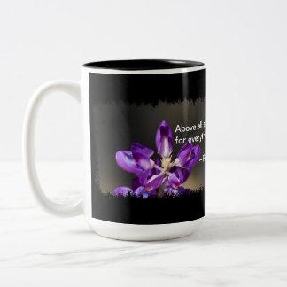 Proverbs 4:23 Two-Tone coffee mug