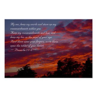 Proverbs 7:1-3 print
