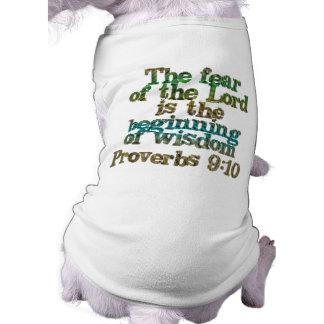 Proverbs 9:10 dog tee shirt