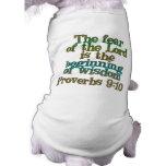 Proverbs 9:10 doggie tshirt
