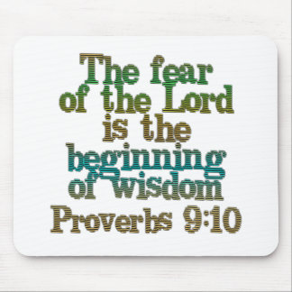 Proverbs 9:10 mouse pad