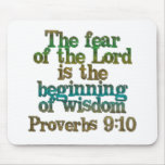 Proverbs 9:10 mouse pads