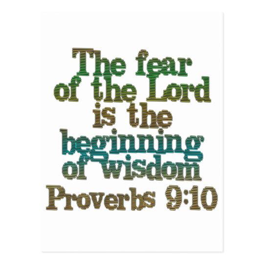 Proverbs 9:10 postcard