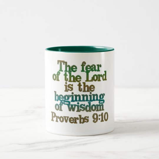 Proverbs 9:10 Two-Tone coffee mug