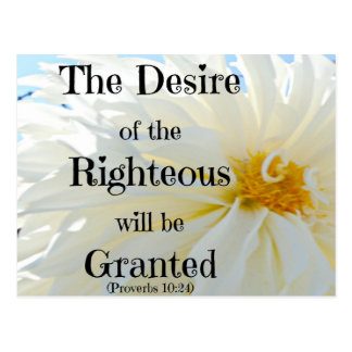 Proverbs Bible The desire of the righteous Postcard