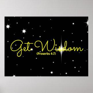 Proverbs Bible verse Get Widsom Poster