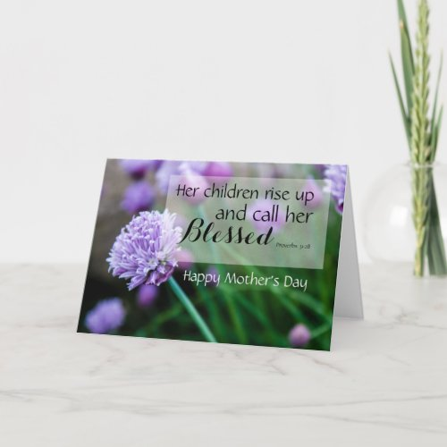 Proverbs Bible Verses Mothers Day Card