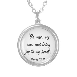 Proverbs bring joy to my heart necklace