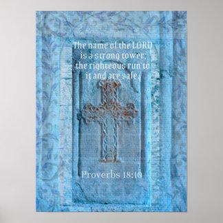 Proverbs  Encouraging Biblical Verse Holy Bible Poster