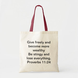 Proverbs for the Wise Budget Tote Bag