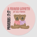 Proverbs Friend Classic Round Sticker