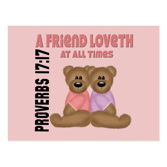 Proverbs Friend Postcard