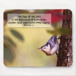 Proverbs - Nuthatch Mousepad