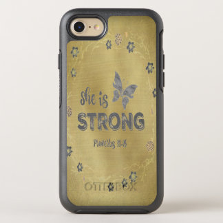 Proverbs She is Strong Quote OtterBox Symmetry iPhone 8/7 Case