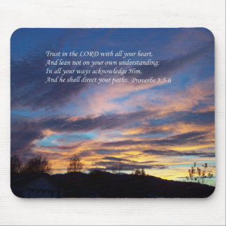 Proverbs Sunset Mousepad