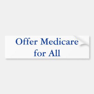 Provide Medicare for All Bumper Sticker