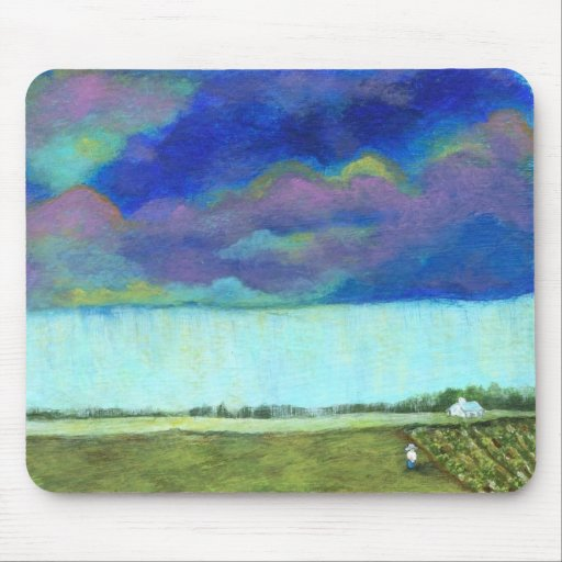 Providence Abstract Folk Art Landscape Painting Mouse Pad