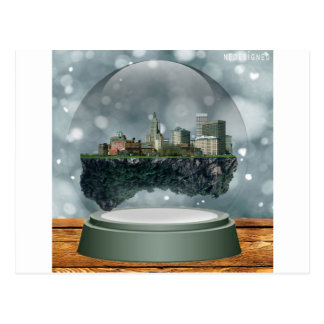 Providence Island Snow Globe Postcard