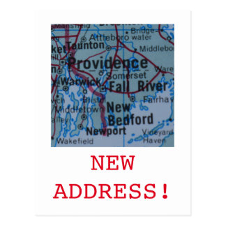 Providence New Address announcement Postcard