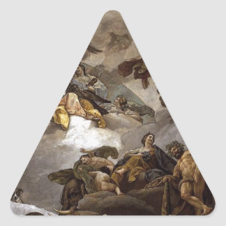 Providence Presiding over Virtues and Faculties Triangle Sticker
