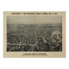 Providence Rhode Island 1894 Antique Panoramic Map Poster